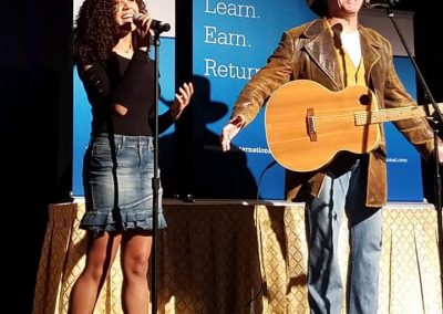 Jasmine Performing with Michael Peterson